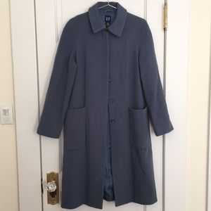 Blue Trench Peacoat